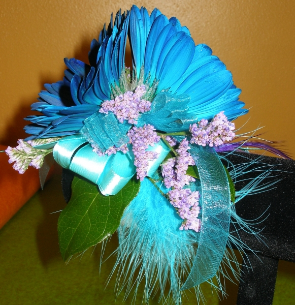 TEAL BLUE FEATHERS 21.00
