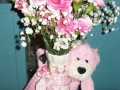 BABY GIRL VASE WITH TEDDY BEAR