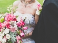 GRANDE BOQUET WITH BRIDE AND GROOM