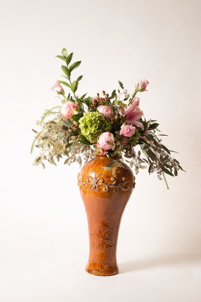 TALL GLAZED VASE