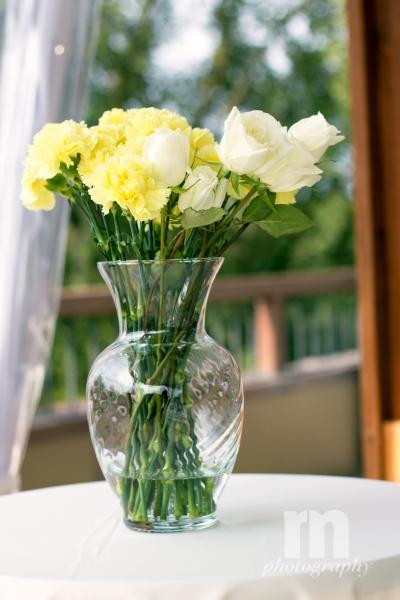 VASE UNDER ARBOR FOR MOMS FLOWERS