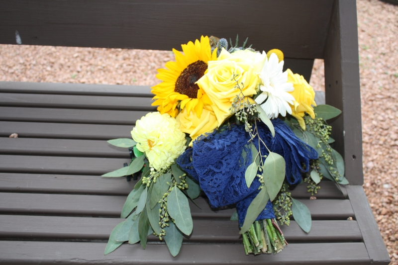 BRIDES BOUQUET TAKES A BREAK