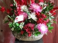 RED AND PINKS BASKET
